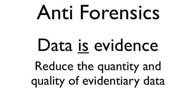 Anti-forensics