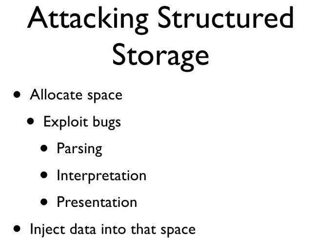 Attacking Structured Storage