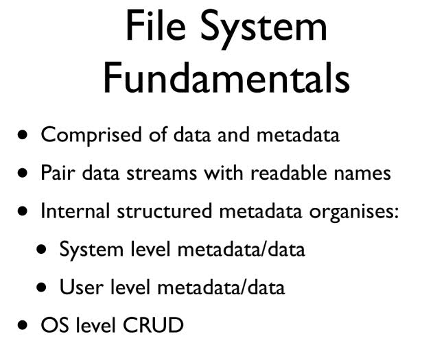 File System Fundamentals