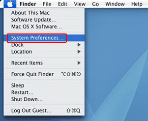 Pick the System Preferences