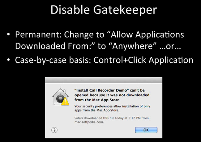 Disable Gatekeeper