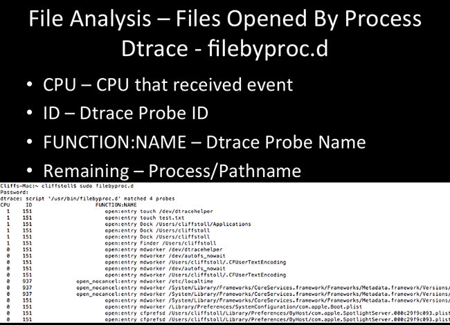 File Analysis - filebyproc.d