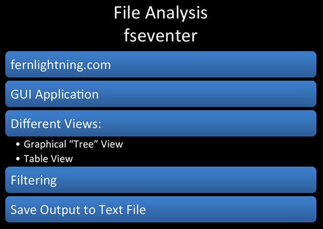 File Analysis fseventer