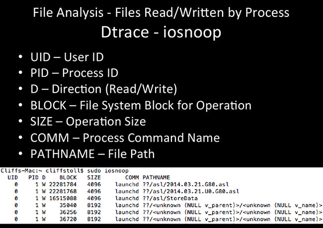 File Analysis - iosnoop