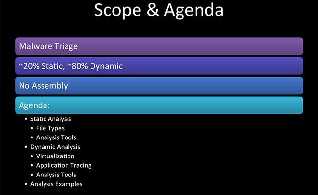 Scope and Agenda