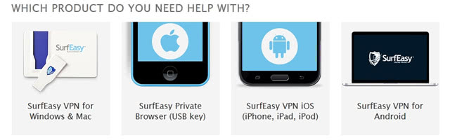 SurfEasy VPN support