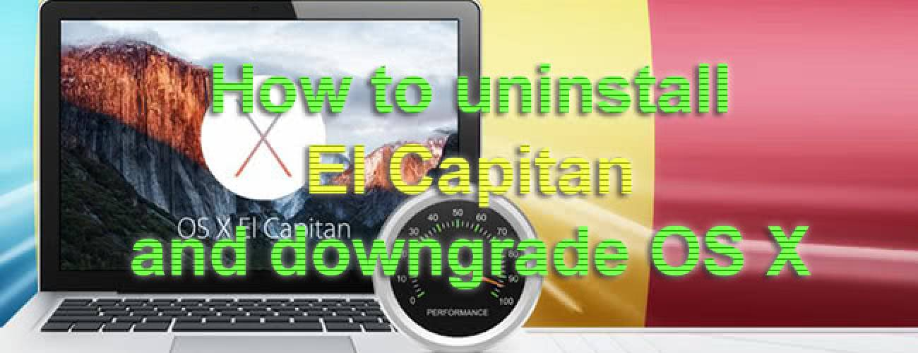 How to uninstall El Capitan