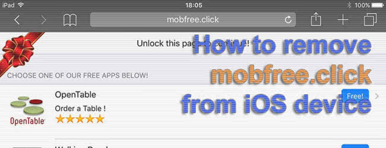 Remove mobfree.click redirect virus