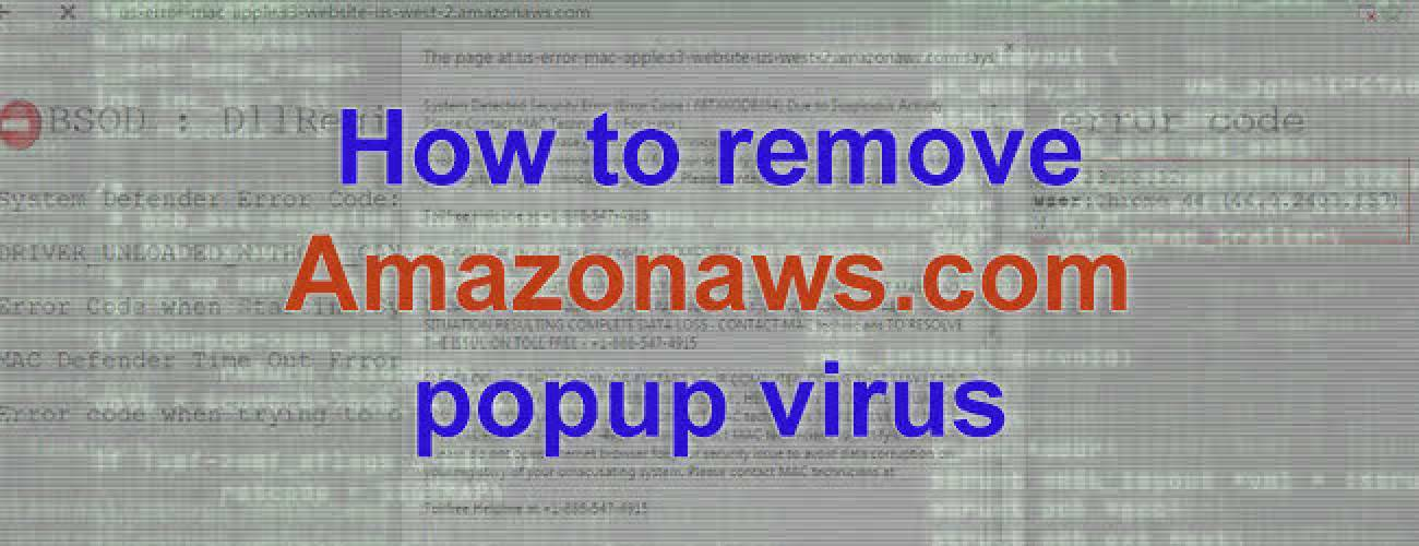Remove Amazonaws popups on Mac