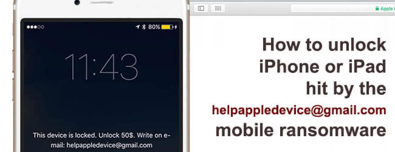 helpappledevice@gmail.com virus on iPhone