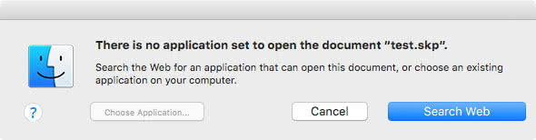 Fake application choice dialog by Mac File Opener
