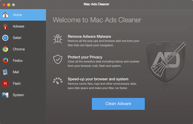Mac Ads Cleaner GUI