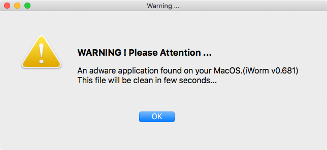 MacDownloader displays a bogus adware detection warning