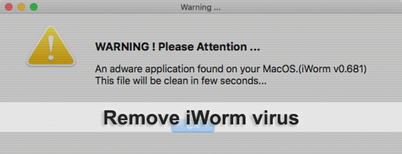 Remove iWorm virus from Mac OS X