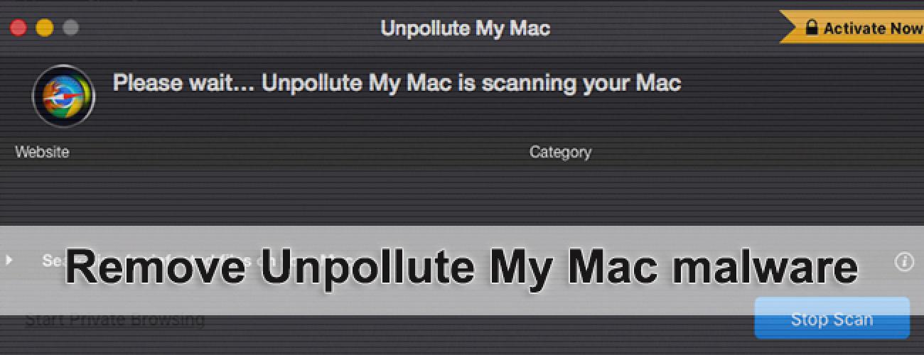 Remove Unpollute My Mac malware