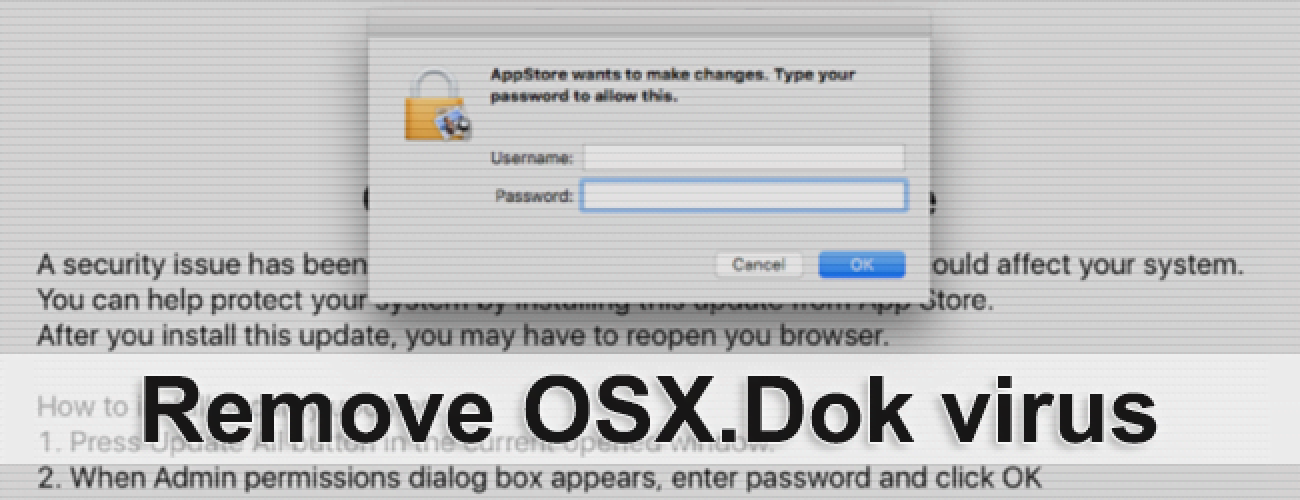 Remove OSX.Dok malware from Mac OS X