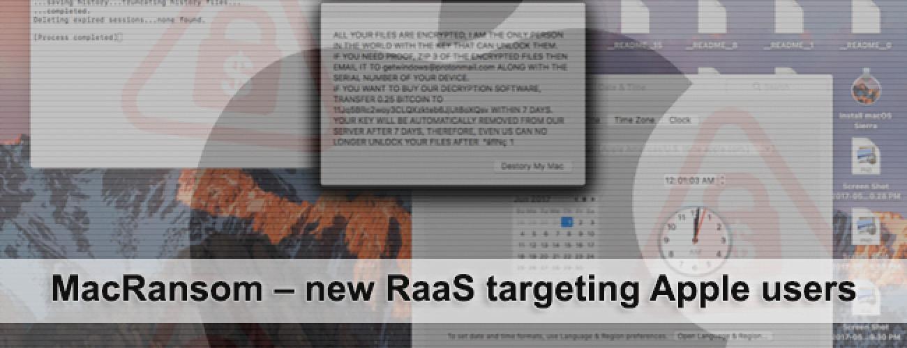 MacRansom – new RaaS targeting Apple users