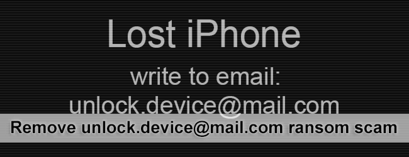 Remove unlock.device@mail.com virus on iPhone or MacBook