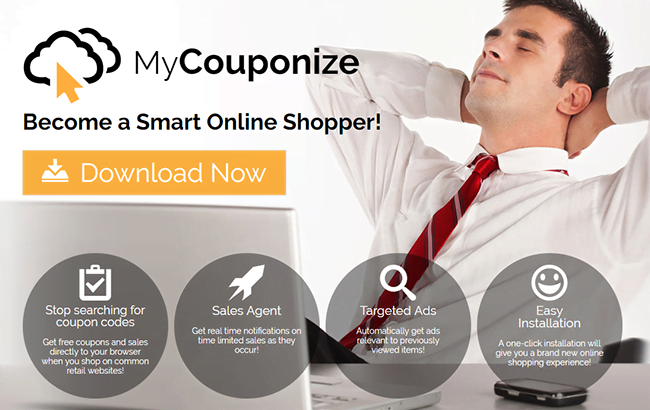 MyCouponize app passes itself off as a useful online shopping extra
