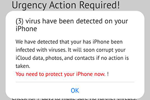 Get rid of iPhone virus warning popup scam
