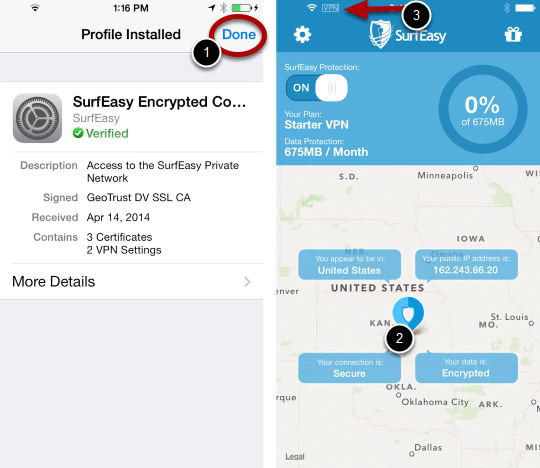 Turn on SurfEasy VPN