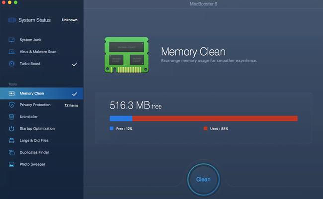 MacBooster 6 Memory Clean