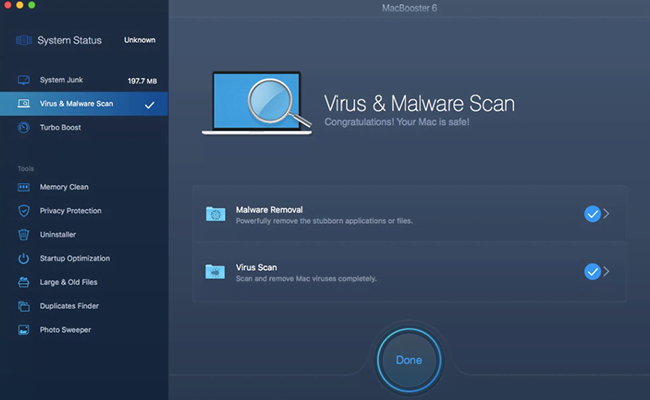 Virus & Malware Scan pane