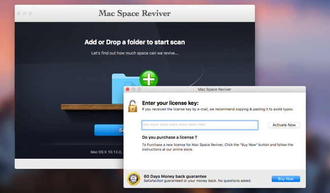Mac Space Reviver virus tries to dupe users into upgrading to licensed version