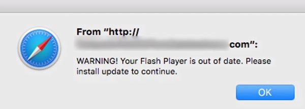 Remove fake Adobe Flash Player update virus from Mac